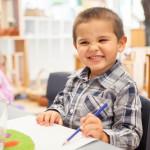 Boy enjoying learning