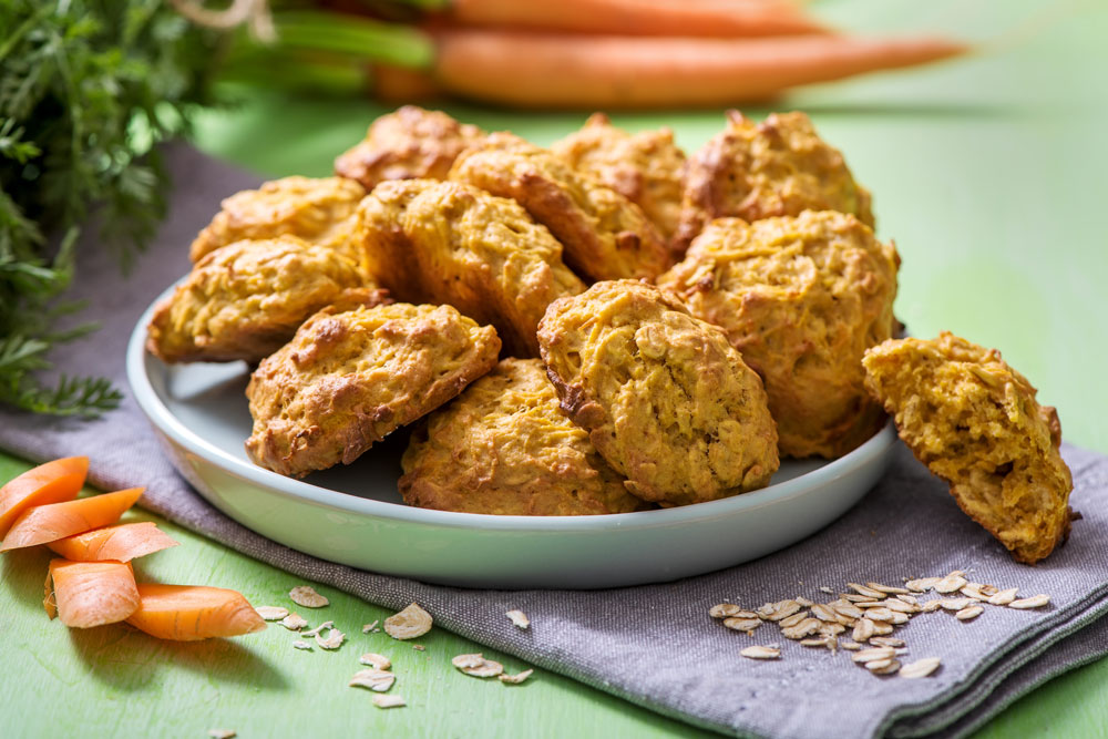 carrot and oat cookies